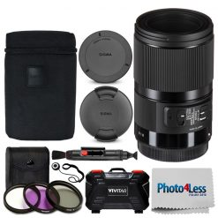 Sigma 70mm f/2.8 DG Macro Art Lens for Canon EF + 49mm UV Filters + Card Holder