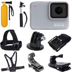 GoPro HERO7 (White) Waterproof Digital Action Camera + Top Value Accessories!