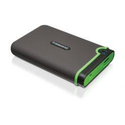 Transcend 500GB StoreJet External USB 3.0 Portable Hard Drive (Gray/Green)