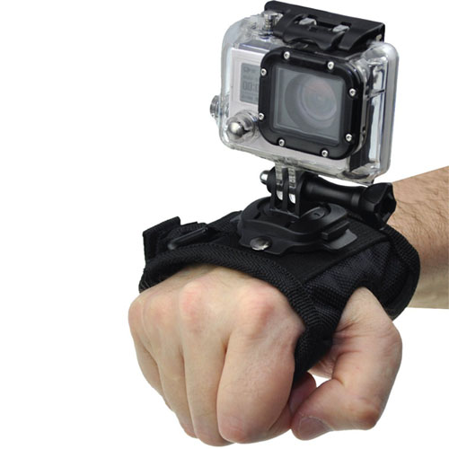 Xit XTGPWMROTATE Rotating Velcro Wrist Strap for GoPro (Black)