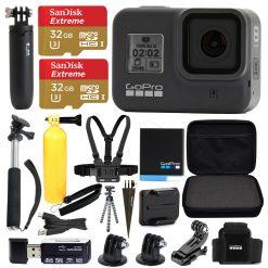 GoPro HERO8 Black Bundle + SanDisk Extreme 32GB microSDXC + Hard Case & More!