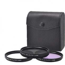 Xit 52mm 3-Piece Multi Coated Glass Filter Kit UV, CP & FLD Filter
