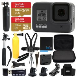 GoPro HERO8 Black Bundle + SanDisk Extreme 128GB microSDXC + Hard Case & More!