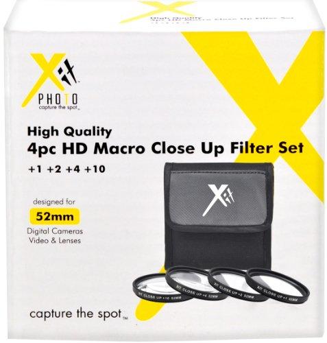 Xit 52mm 4-Piece Close-Up Filter Set