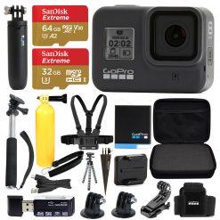 GoPro HERO8 Black Bundle + SanDisk Extreme 64GB microSDXC + Hard Case & More!