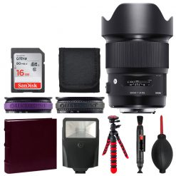 Sigma 20mm F1.4 ART DG HSM Lens for Canon + Photo Album + 16GB Memory Card