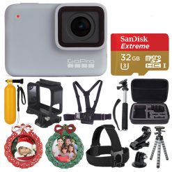 GoPro HERO7 (White) Waterproof Digital Action Camera + 32GB Card - Holiday Kit