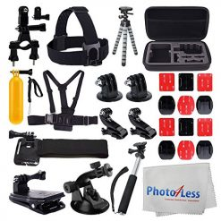 Deluxe Accessory Bundle for GoPro + Medium Case + Floating Handle + Accessories
