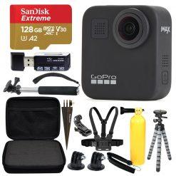 GoPro MAX 360 Sports Action Camera + SanDisk Extreme 128GB microSDXC + Top Value Bundle!