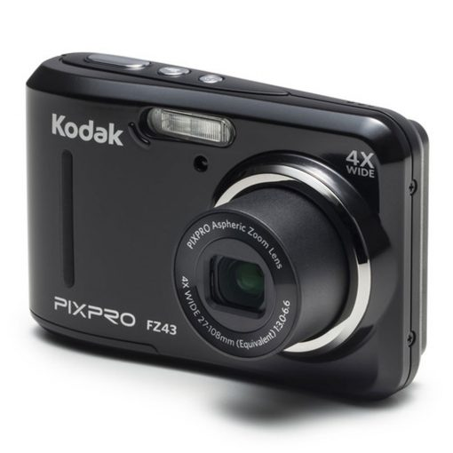 Kodak PIXPRO Friendly Zoom FZ43 16 MP Digital Camera with 4X Optical Zoom and 2.7 LCD Screen (Black)