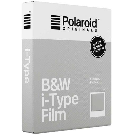 Polaroid Instant Film Black & White Film for I-TYPE, White (4669) 8 Exposures 5 Pack + Cleaning Cloth