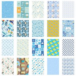 20 Sticker Frames for Fuji Instax Prints Baby Boy Package XTFSTICK20BB