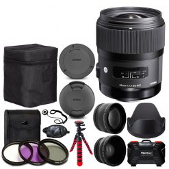 Sigma 35mm f/1.4 DG HSM Art Lens for Canon DSLR Cameras + Wide Angle & Telephoto