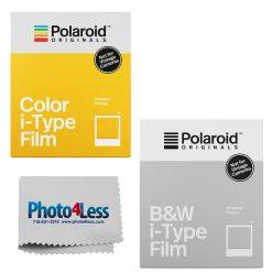 Polaroid i-Type Black & White Film (8 Sheets) | Color Film (8 Sheets)