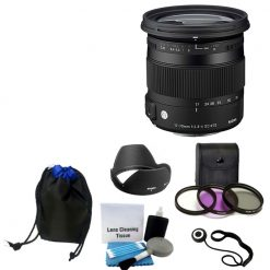 New Sigma 17-70mm f/2.8-4 DC Macro OS HSM Lens for Canon + UV CPL FLD Full Kit