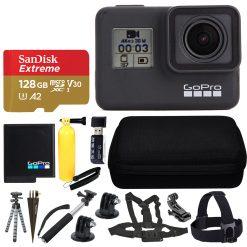 GoPro HERO7 Black Action Camera + SanDisk 128GB Memory Card + Top Value Bundle!