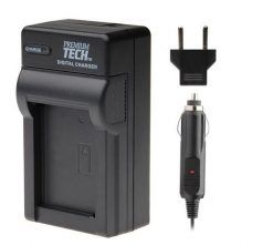 Premium Tech PT-42 AC/DC Rapid 4.2 volt Battery Charger for Canon NB6L, Samsung SLB-10A