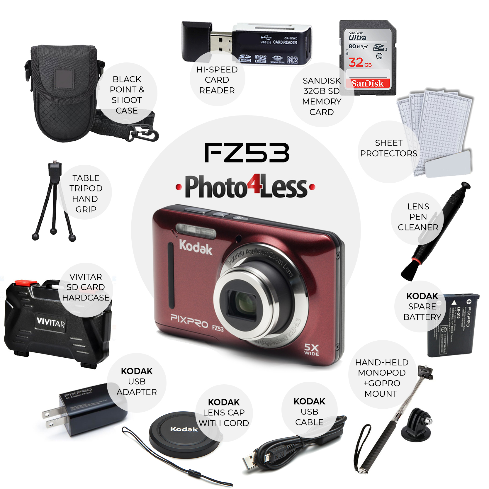 Hard Case for Kodak EasyShare Digital Cameras Camera, Photo ...