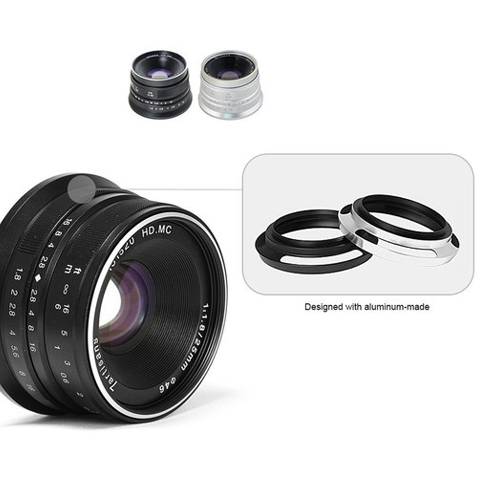 FLD Fluorescent Natural Light Color Correction Filter for Canon EF 75-300mm f//4-5.6 III Lens