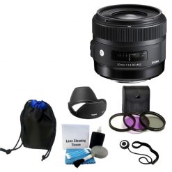 Sigma 30mm f/1.4 DC HSM Lens Bundle for Nikon DSLR Cameras