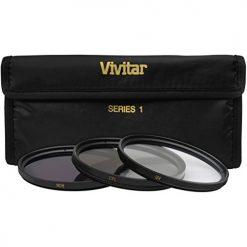 Vivitar VIV-FK3-82 3 Piece Filter Kit 82mm UV-FDL/CPL (Black)