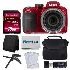 Kodak PIXPRO AZ421 Digital Camera (Red) Bundle + 16GB Memory SD Card + Case