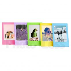 Ideal Plastic Photo Frame for Mini Film Assorted Colors- Blue, Green, Pink, Purple, Yellow