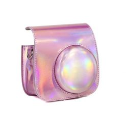 Caiul Iridescent Pink Case for Fuji Instax