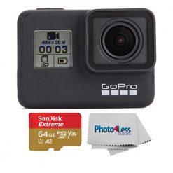 GoPro HERO7 Black Waterproof 4K HD Video Action Camera+ Sandisk 64GB Memory Card