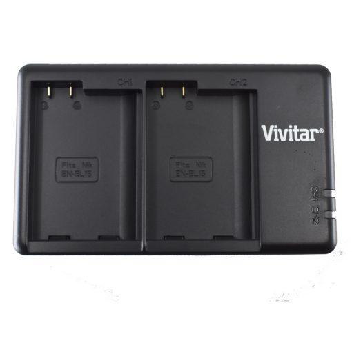 Vivitar Dual Battery Charger for the Nikon ENEL15A VIV-QC-3052