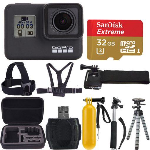 GoPro HERO7 Black Waterproof 4K HD Video 12MP Digital Action Camera + 32GB Kit