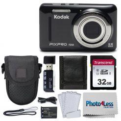 Kodak PIXPRO FZ53 Digital Camera (Black) Kit + Point & Shoot Case + 32GB SD Card