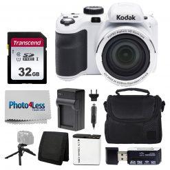 Kodak PIXPRO AZ421 Digital Camera (White) Kit + 32GB Memory Card + Accessories!