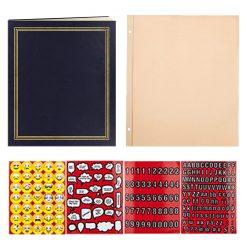 """Pioneer Photo Album 17 3/4""""X14"""" 100 Page Scrapbook Jumbo Post Bound Scrapbook Navy Blue"""