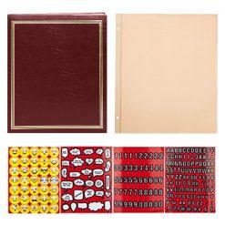 """Pioneer Photo Album 18 3/4""""X14"""" 100 Page Scrapbook Jumbo Post Bound Scrapbook Burgundy 9SJ100/BR)"""