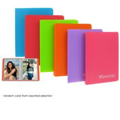 Pioneer Photo Mini-Poly Memories Album 4X6 For 36 Photos Assorted Colors Great for gifts, party favors ,