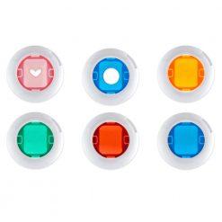 Xit Color Close-Up Lens Filters For Fuji Instax Mini Cameras 6 Pack XTF6CU