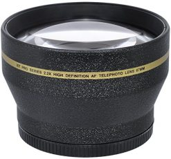 Xit XT2X67 67mm 2.2X Telephoto Auxiliary Screw On Lens (Black)