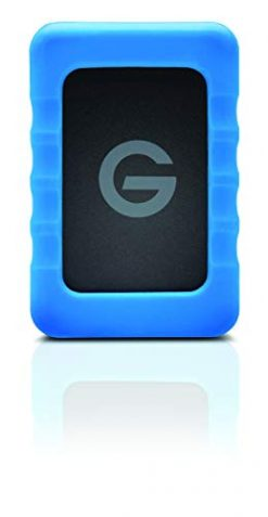 G-Technology 1TB G-DRIVE ev RaW Portable External Hard Drive with Removable Protective Rubber Bumper - USB 3.0 - 0G04101-1
