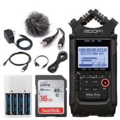 Zoom H4n Pro Portable Handy Recorder (Black) + Accessories