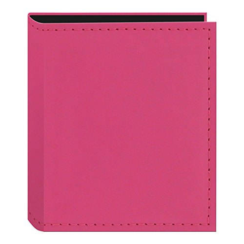 Pioneer Sewn Leatherette Photo Album 40 Pockets Hold Fujifilm Instax and Polaroid Credit Card Size Instant Prints or Name Cards, Pink