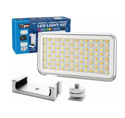 Vidpro 112 LED Digital Micro-Series Light with Built-in Battery and Phone Clamp