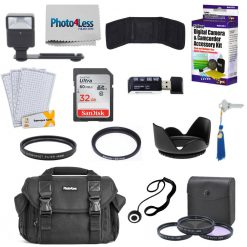 Professional 49mm Lens Filter + SLR Camera Case & Accessories Kit