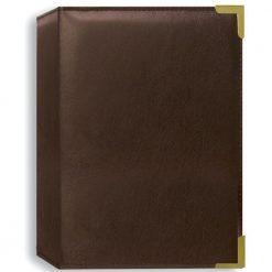 Pioneer Photo Albums Oxford Brass Corner Photo Album - Brown Holds 24 4X6