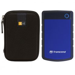 "Transcend StoreJet Shock Resistant Portable External Hard Drive 4TB 2.5"" (Blue) + Case"