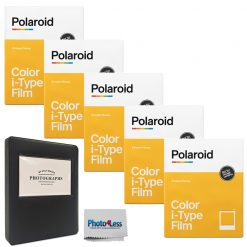 Polaroid Color Film for I-Type (8 Exposures) + Album + Cloth
