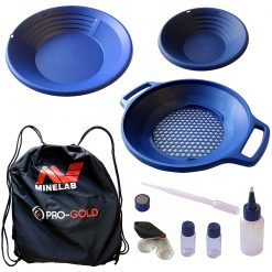 Minelab PRO-GOLD Gold Panning Kit, 2 Premium Quality Pans and a Versatile Classifier (3011-0325)