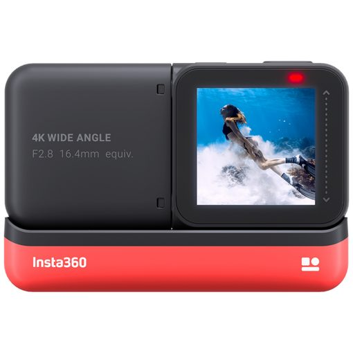 Insta360 ONE R 4K Edition + 128GB SD Card + Monopod + SD card reader + Spike mount + Cloth