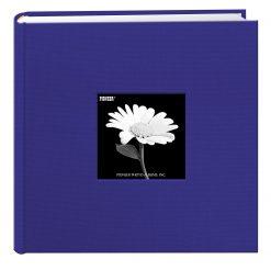 "Pioneer Photo Fabric Frame Bi-Directional Photo Album Cobalt Blue Holds 200 4x6"""