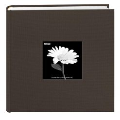 "Pioneer Photo Fabric Frame Bi-Directional Photo Album Warm Mocha Holds 200 4x6"""